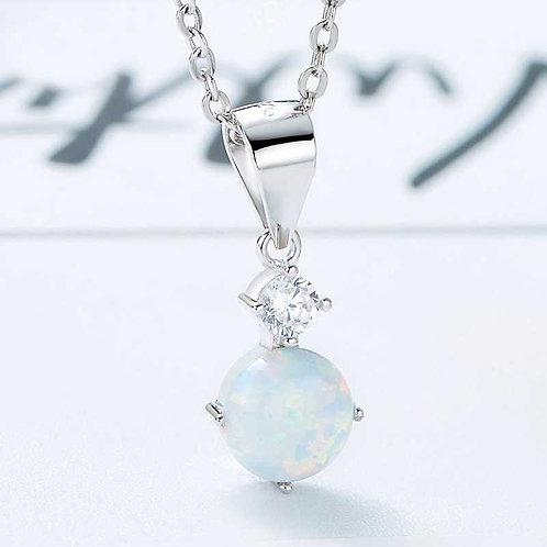white opal necklace Swarovski