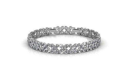 18K white gold bracelet with 100 Swarovski Crystals
