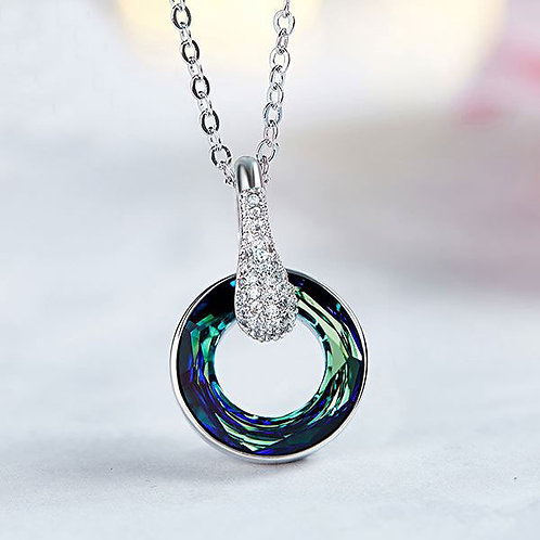 925 Sterling Silver Necklace with Swarovski Crystal