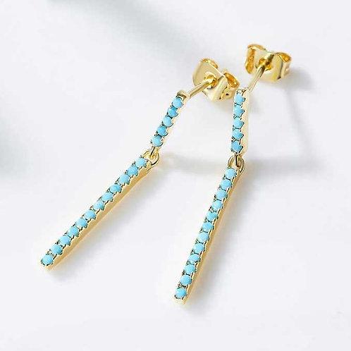 gold bar earrings jewellery
