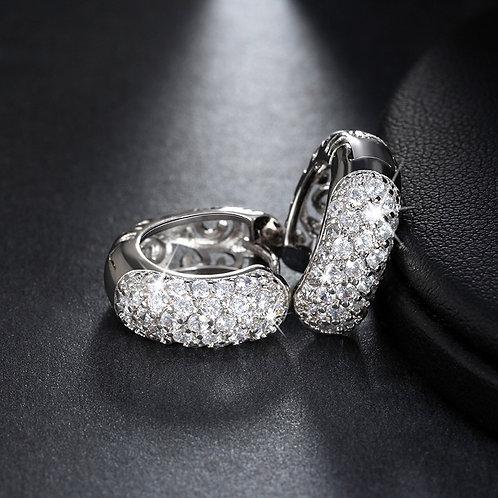 """Huggie earrings with CZ Diamonds """"Rachel"""""""