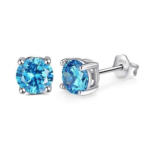 diamond stud silver earrings jewellery