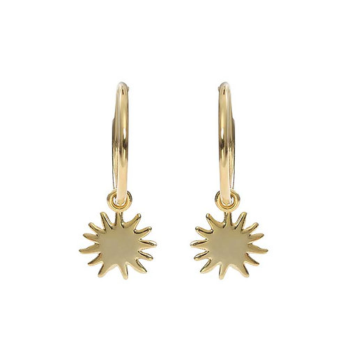 Gold plated  earrings with star
