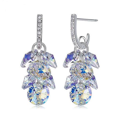 Sterling Silver and Swarovski Crystal Stud Earrings