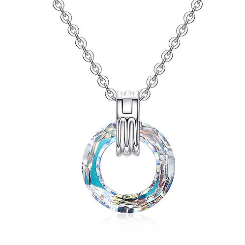 Sterling Silver Necklace Pendant with Swarovski Crystal