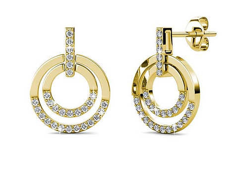 18K Gold earrings with Swarovski crystals