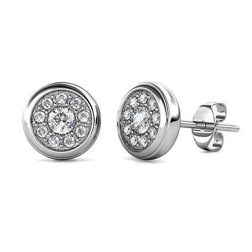 White Gold Plated Earrings with Swarovski crystals