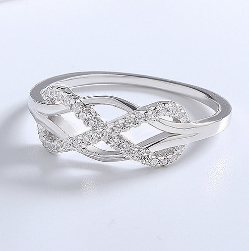 Size 8 - 925 Sterling Silver Love Knot Ring