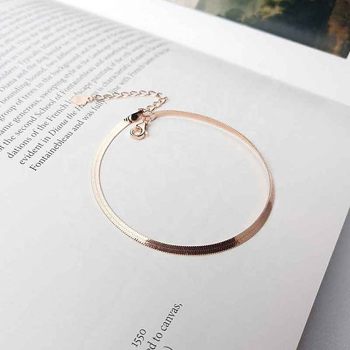 Rose Gold plated bracelet chain over 925 Sterling Silver