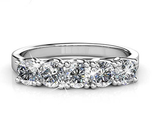 Size 9 - 18K White Gold plated dress style ring