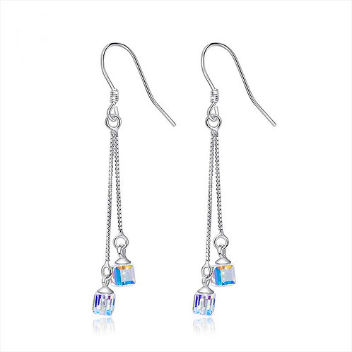 925 Sterling Silver plated earrings with Swarovski crystals