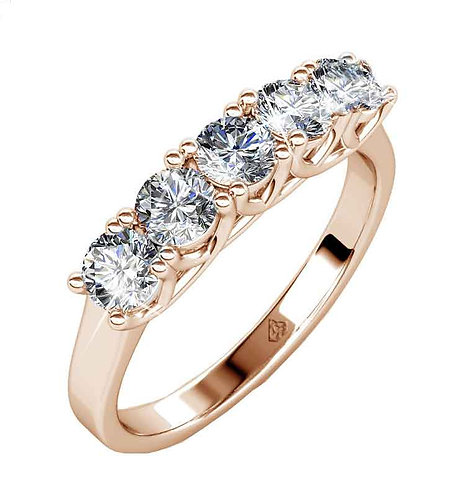 Rose Gold plated dress style ring - SIZE 8