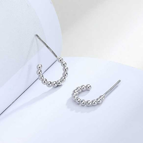 silver earrings modern jewellery