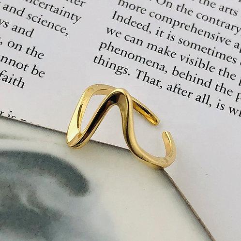 Modern design Wave Ring