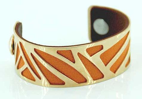 CUFF - Rose gold with orange/brown