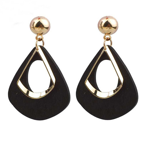 Fashion earrings in Gold and Black - contemporary styling
