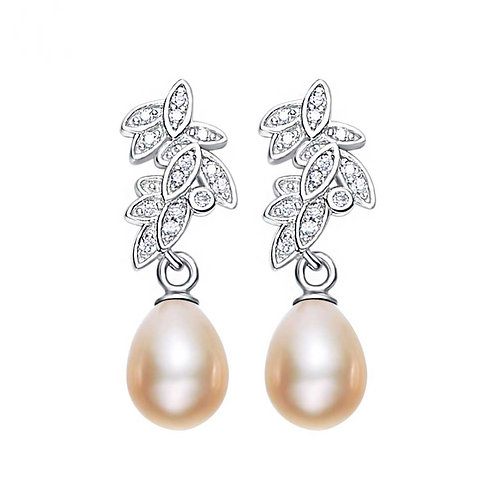 925 Sterling Silver earrings with freshwater pearls