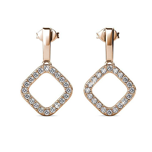 Rose Gold Earrings with Swarovski crystals
