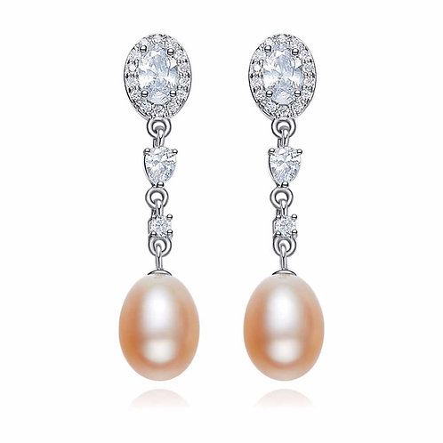 925 Sterling Silver with freshwater pearls and Swarovski crystals