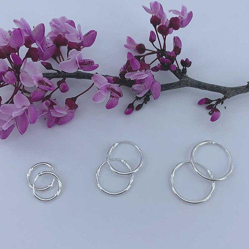 10 mm 925 Sterling Silver Fine Sleeper Earrings