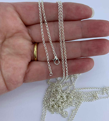 925 Sterling Silver 2 mm Rolo chain - up to 50 cm