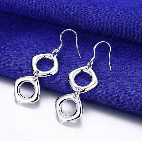 silver dangle earrings Jewellery