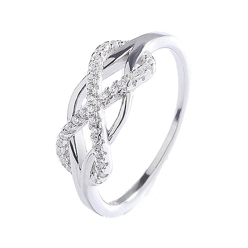 Size 7 - 925 Sterling Silver Love Knot Ring