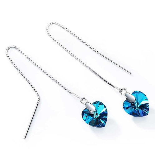 Swarovski Heart and Sterling Silver threaders