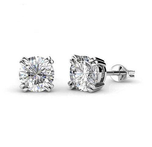 Silver Swarovski stud earrings jewellery