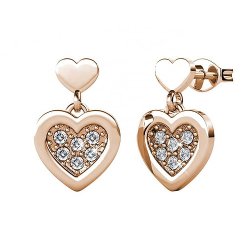 Rose Gold Plated stud earrings with Swarovski crystals