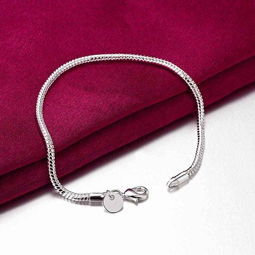 silver snake charm bracelet pandora