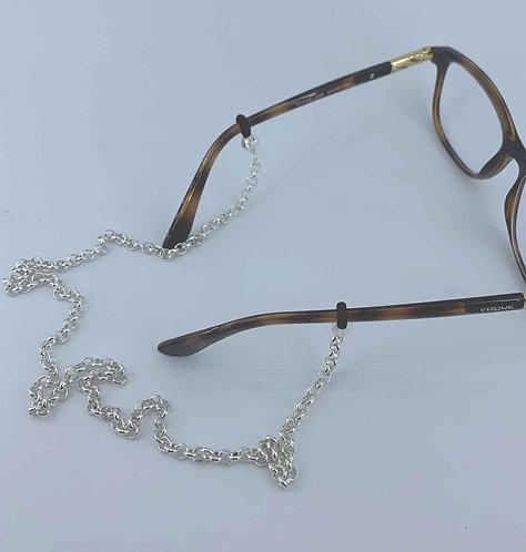 Glasses chain -Silver rolo - 4.8 mm wide