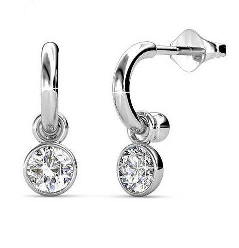 18K White Gold earrings with Swarovski crystals