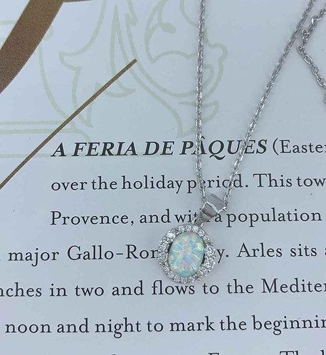 white opal swarovski frenelle jewellery
