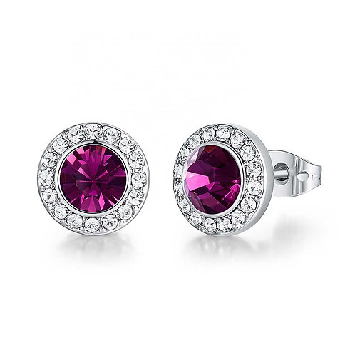 Swarovski Crystal earrings in 925 Sterling Silver