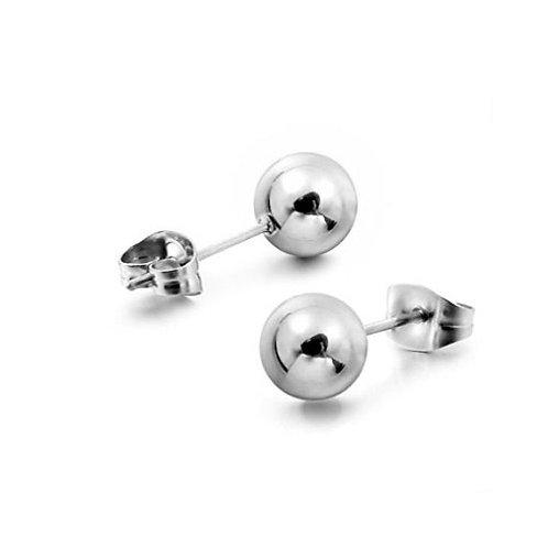 925 Sterling Silver Ball Stud Earrings