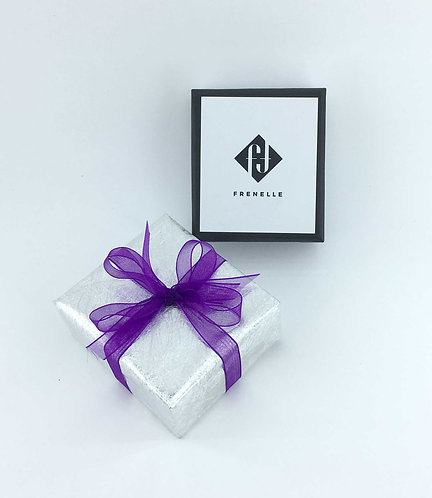 Gift Wrap - Silver with purple ribbon