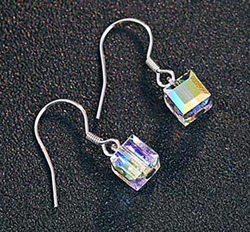 925 Sterling Silver and Swarovski dangle Earrings