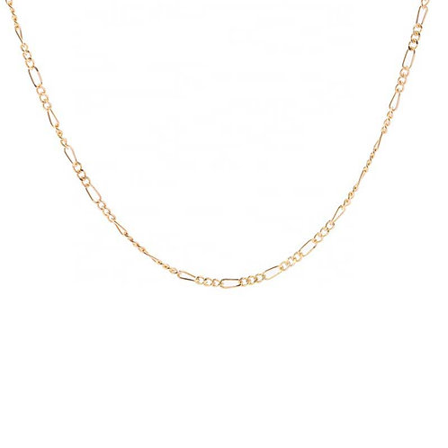 18K Gold plated Necklace 45 cm chain over 925 Sterling Silver