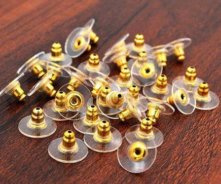 GOLD coloured plastic ear disc - comfort fit
