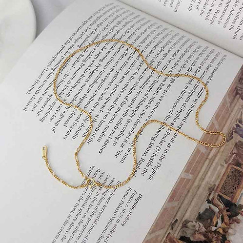18K Gold plated Figaro Necklace 41 cm chain