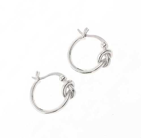 925 Sterling Silver Plated huggie earrings with knot