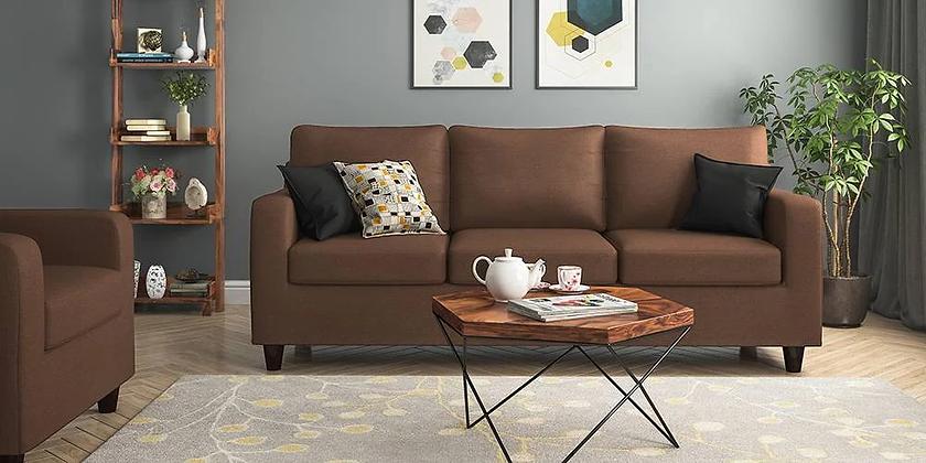 Cristal Sofa Set in Brown Color