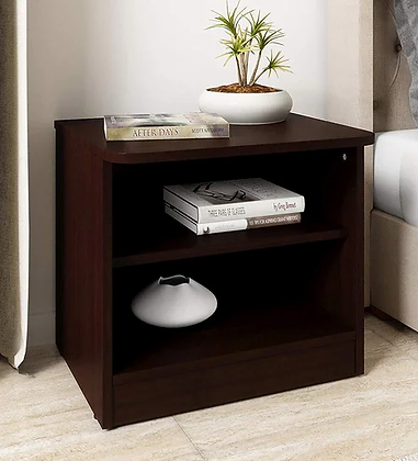 Social Bed Side Table in Brown Color