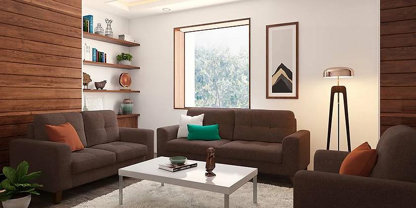 Apollo Sofa Set in Brown Color