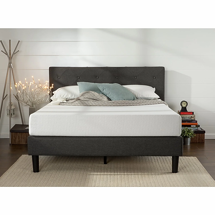 Euro Fabric Bed in Grey Color