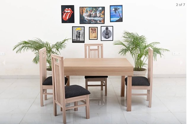 Rome Dining Table Set in Brown Colour