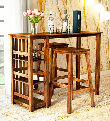 Obey Wood Bar Table Set