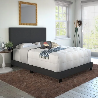 Youth Wing Fabric Bed in Grey Color