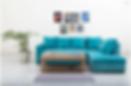 Mia Blue Sofa Set- Bliss Furnish
